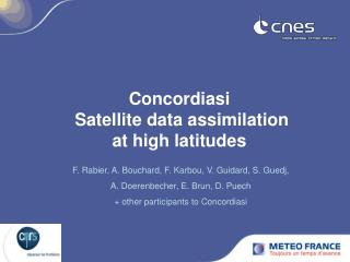 Concordiasi  Satellite data assimilation  at high latitudes