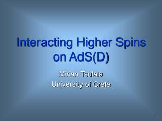 Interacting Higher Spins on AdS(D)