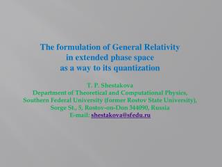 The formulation of General Relativity in extended phase space as a way to its quantization