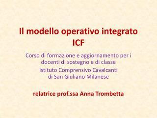 Il modello operativo integrato  ICF