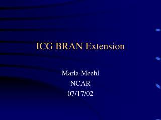 ICG BRAN Extension