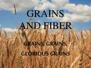 GRAINS  AND FIBER