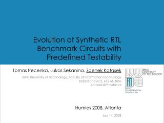 Evolution of Synthetic RTL Benchmark Circuits with Predefined Testability