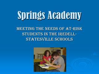 Springs Academy