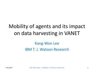 Mobility of agents and its impact on data harvesting in VANET