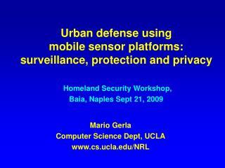 Mario Gerla Computer Science Dept, UCLA cs.ucla/NRL