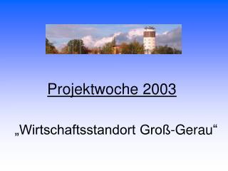"""Projektwoche 2003 """"Wirtschaftsstandort Groß-Gerau """""""