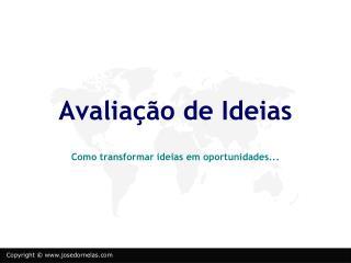Avaliação de Ideias