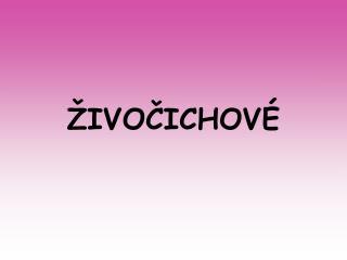�IVO?ICHOV�