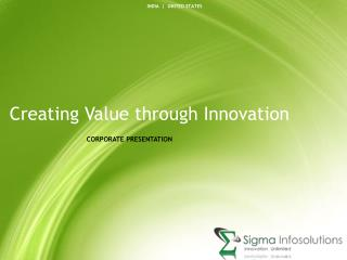 Creating Value through Innovation