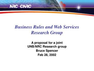 Business Rules and Web Services Research Group