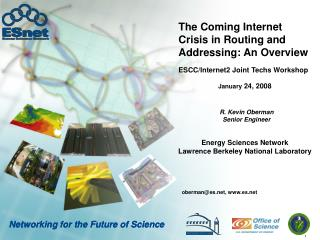 The Coming Internet Crisis in Routing and Addressing: An Overview
