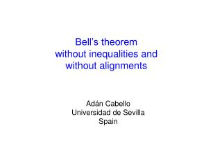 Bell's theorem  without inequalities and  without alignments