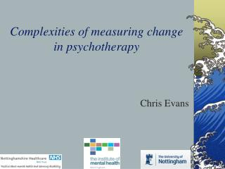 Complexities of measuring change in psychotherapy