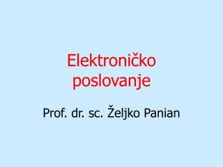 Elektroničko poslovanje