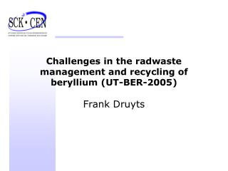 Challenges in the radwaste management and recycling of beryllium (UT-BER-2005)