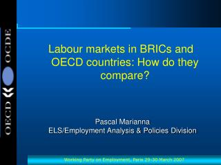 Pascal Marianna ELS/Employment Analysis & Policies Division