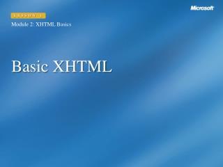 Basic XHTML