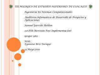 TECNOL�GICO DE ESTUDIOS SUPERIORES DE COACALCO