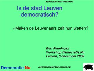 Is de stad Leuven democratisch?