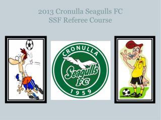 2013 Cronulla Seagulls FC  SSF Referee Course