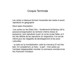 Croquis Terminale