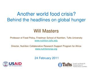 Another world food crisis Behind the headlines on global hunger