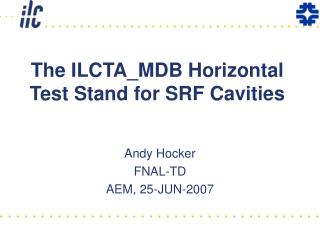 The ILCTA_MDB Horizontal Test Stand for SRF Cavities