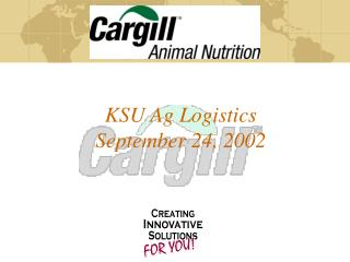 KSU Ag Logistics  September 24, 2002