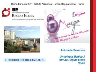 Antonella Savarese Oncologia Medica A Istituto Regina Elena Roma
