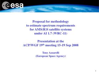 Proposal for methodology to estimate spectrum requirements for AMS(R)S satellite systems