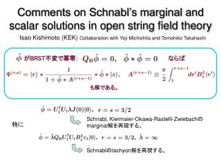 Comments on Schnabl's marginal and scalar solutions in open string field theory