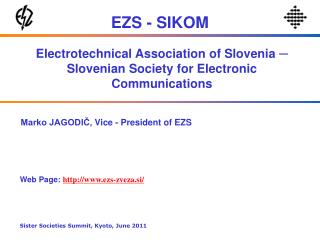 Electrotechnical Association of Slovenia  ─  Slovenian Society for Electronic Communications