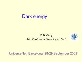 D ark energy