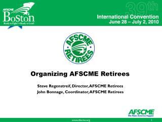 Organizing AFSCME Retirees