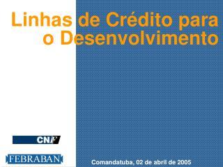 Linhas de Crédito para o Desenvolvimento