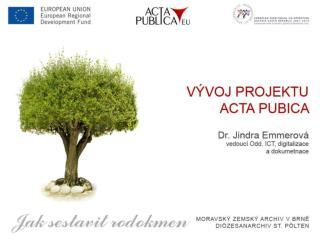 Projekt ACTA PUBLICA