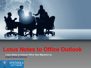 Lotus Notes to Office Outlook