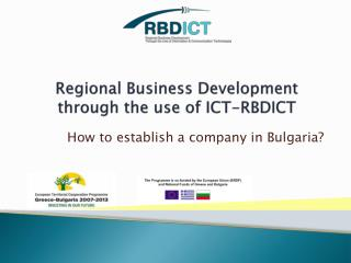 Regional Business Development through the use of ICT-RBDICT