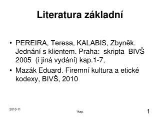 Literatura základní