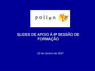 SLIDES DE APOIO À 6ª SESSÃO DE FORMAÇÃO