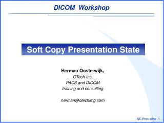 Soft Copy Presentation State