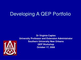 Developing A QEP Portfolio