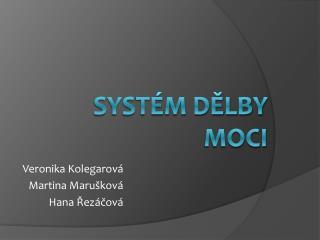 Systém dělby moci