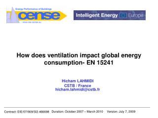 How does ventilation impact global energy consumption- EN 15241