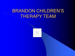 BRANDON CHILDREN'S THERAPY TEAM