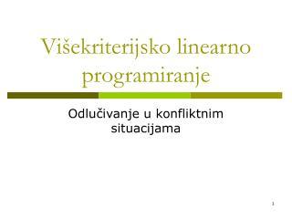 Višekriterijsko linearno programiranje