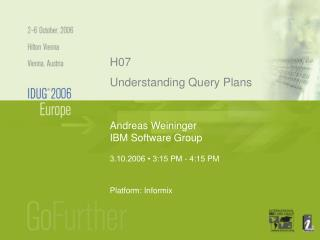 Andreas Weininger IBM Software Group