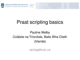 Praat scripting basics