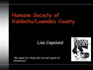 Humane Society of Valdosta